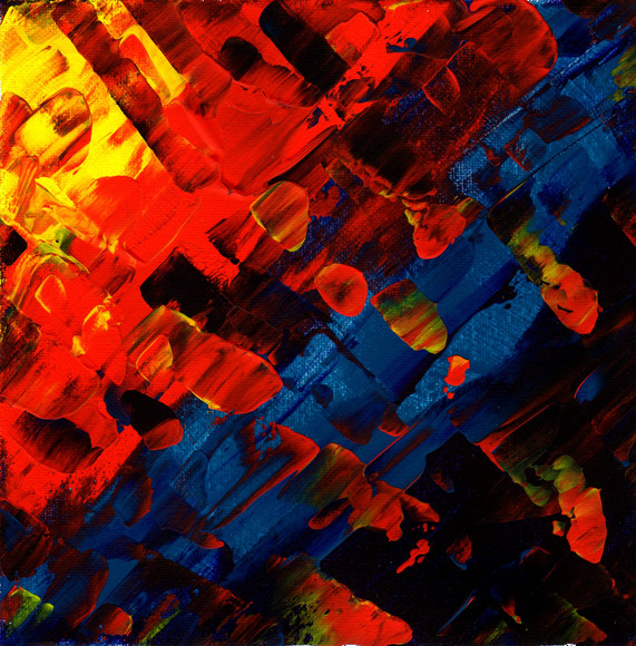 Red Yellow and Blue Abstract