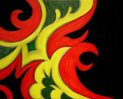 Untitled in red green and yellow