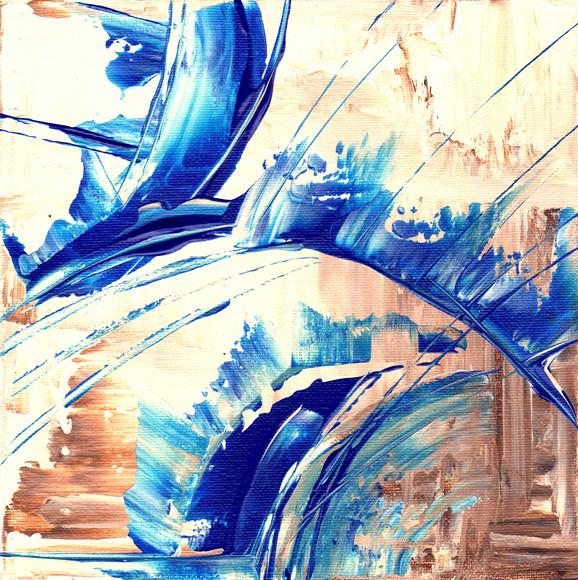 Waves Splash upon the Breakers