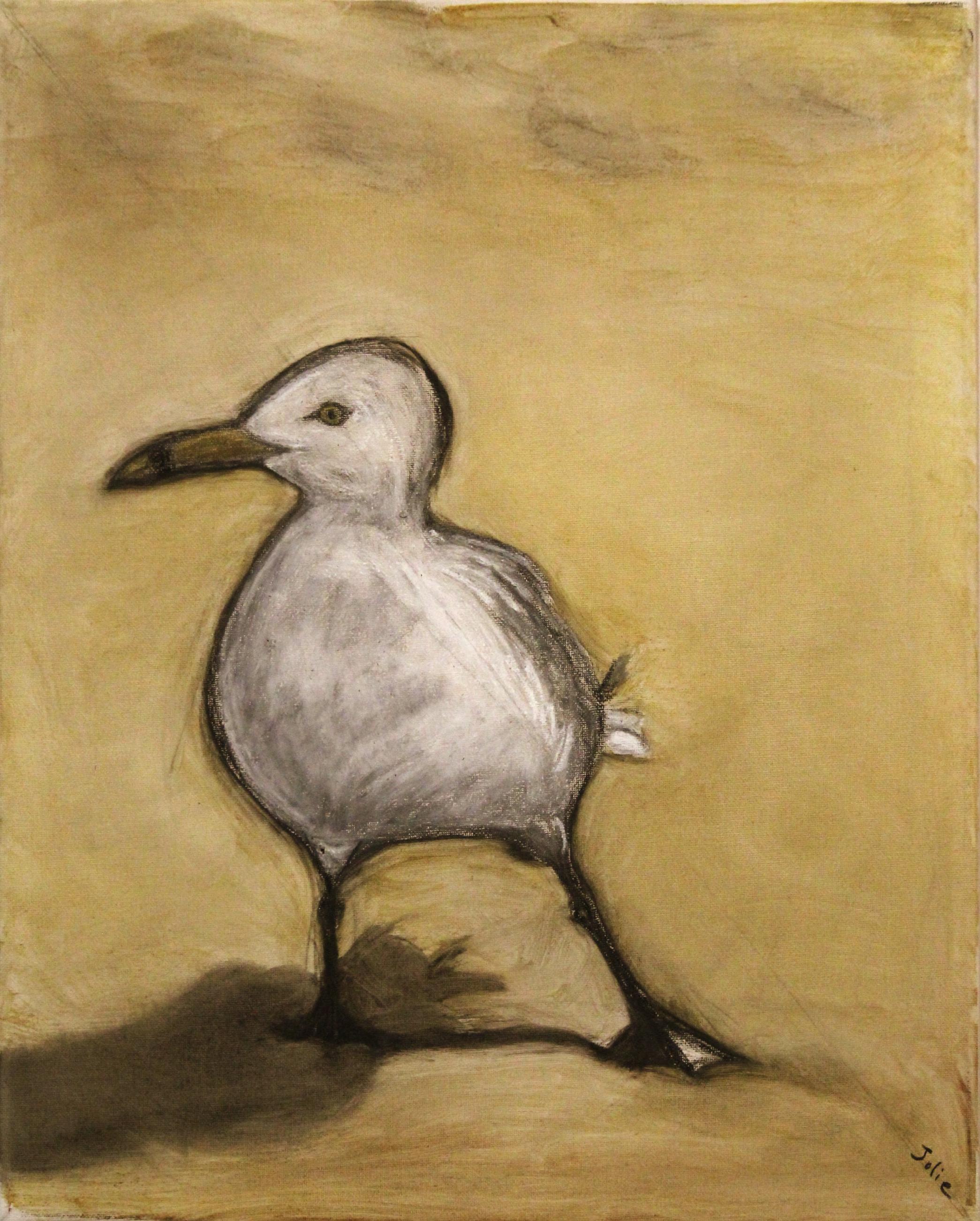 seagull at hammonasset beach