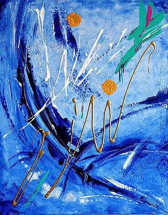 Summer Loving Blue Abstract