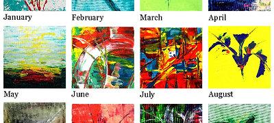 2021 Adventures  in Abstract Calendar