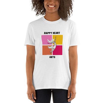 """""""Up"""" Dancer on 4 Color Blocks Short-Sleeve Unisex T-Shirt"""