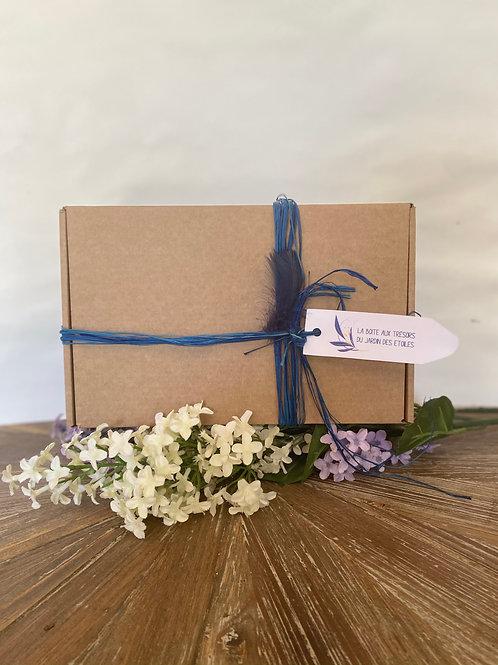 Coffret cadeau - Bleu ou Rose Fuschia