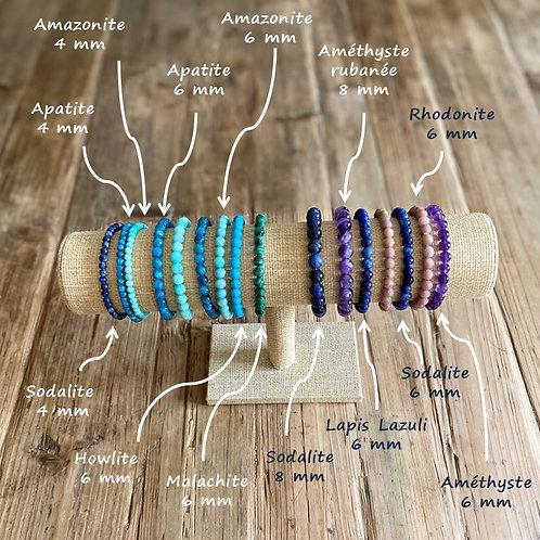 Bracelets en pierres naturelles Qualité top !