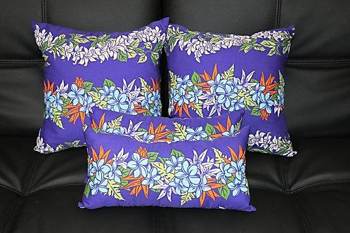 Purple w/ Blue Plumeria (4 pc set) P08