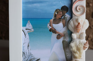 Handmade Seashell Picture Frames from Hawaii