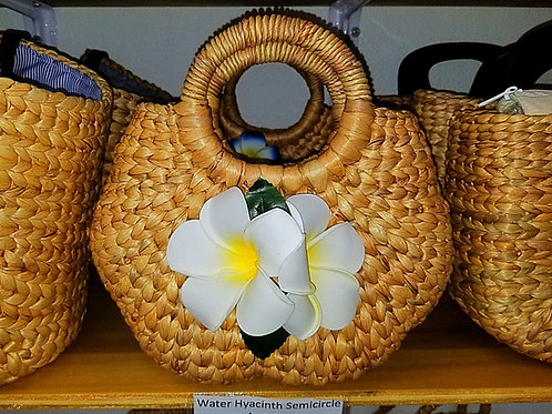 Water Hyacinth Semicircle Bag