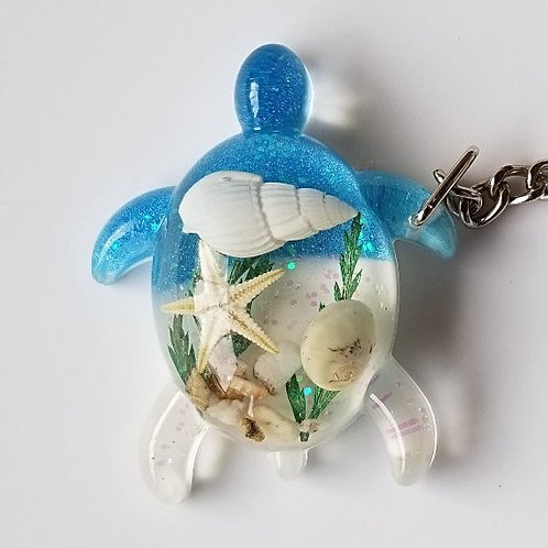Seashell Keychain Sea Turtle MK02