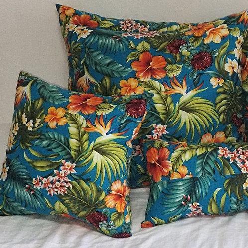 Turquoise w/ Multi Flowers (4 pc set) C06