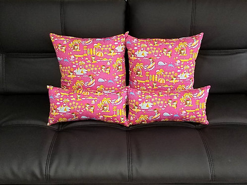 Keiki Pink w/ Yellow (4 pc set) C02