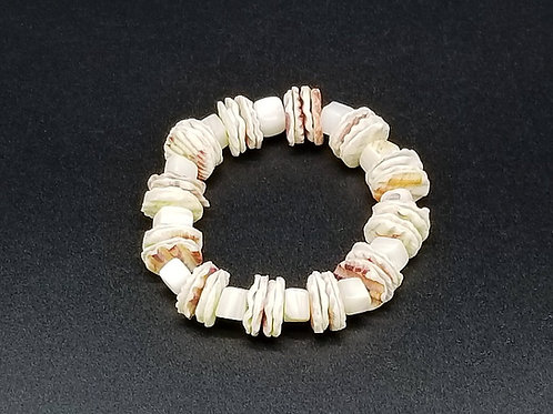 White Scallop Seashell Bracelet LDT40