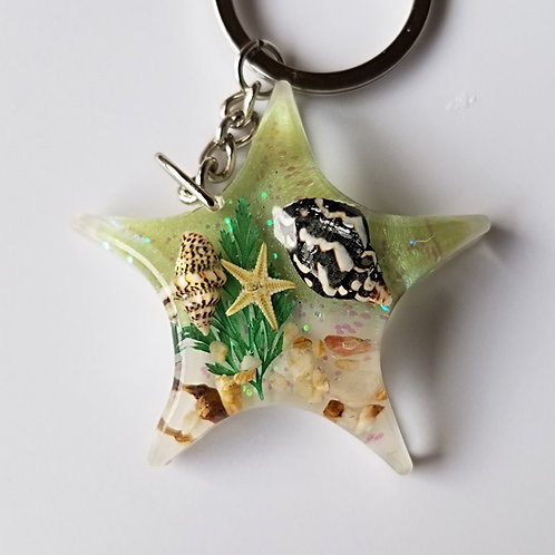 Seashell Keychain Starfish MK03