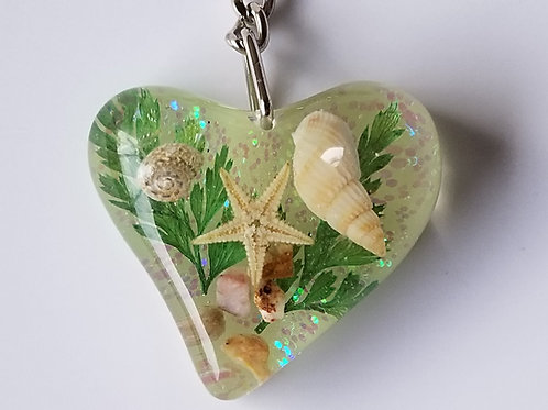 Seashell Keychain Heart MK01
