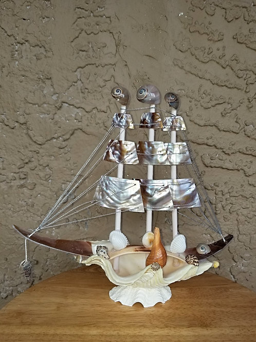 Seashell Sailboat Medium TB17_N