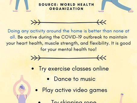 Physical Activity at Home (Infographic)
