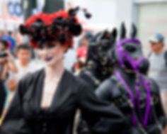Performance Artists Liliane Hunt and The House of Hunt - San Francisco Folsom Street Fair 2014