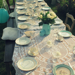 Table de mariage avec la vaisselle de location  - Les Doux Moments - Monnières