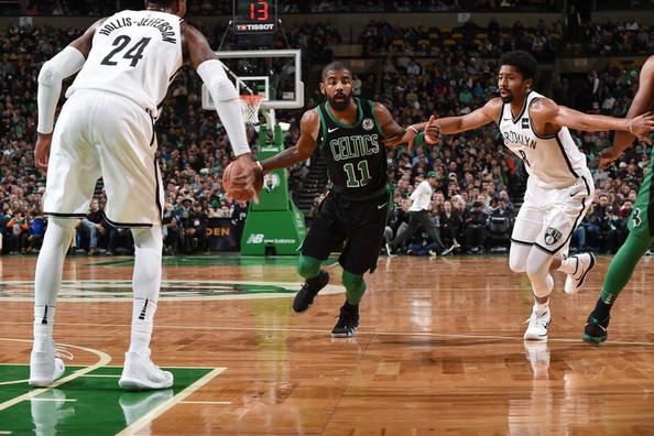 Kyrie Irving leads Celtics past Nets 108-105