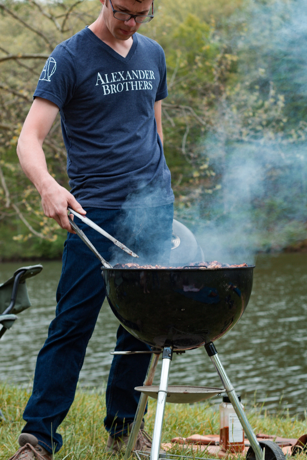 Grilling by the lake, Charcoal grill, Weber grill, 4th of july grill tips