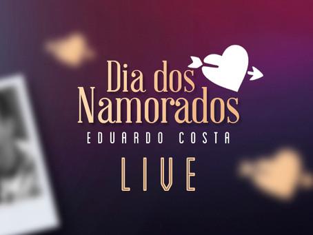 """Eduardo Costa prepara """"live"""" para o Dia dos Namorados"""