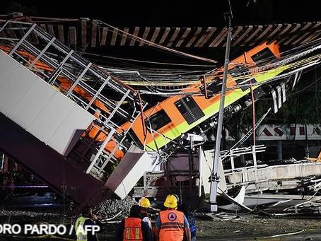 Tragédia no México - Desabamento de metrô deixa mortos e feridos