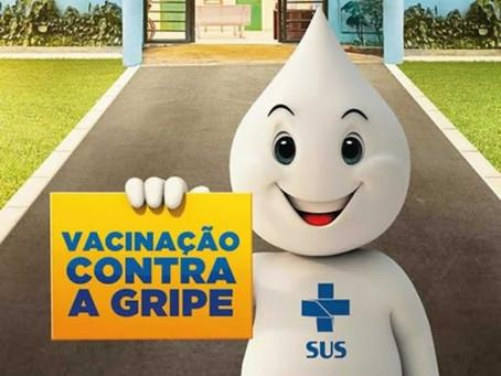 Campanha Nacional de Vacinação contra a Influenza começa em 12 de abril