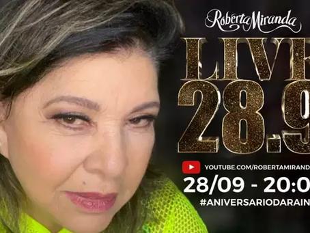 Roberta Miranda comemora aniversário com live especial para os fãs