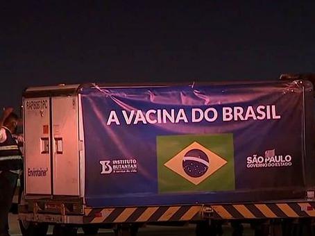 Carga com insumos para a CoronaVac já está no Brasil