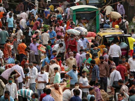 Índia registra recorde de novos casos de Covid