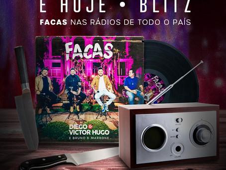 """Blitz Nacional do single """"Faca"""" de Diego e Victor Hugo"""