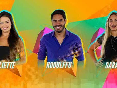 BBB21: Juliette, Rodolffo e Sarah se enfrentam no nono paredão da edição