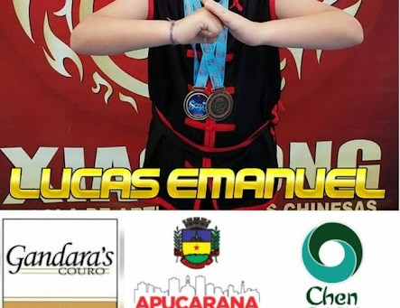 Jovem atleta Lucas Emanuel participa do 24ª edição do Campeonato Paranaense de Kung Fu (Wushu)