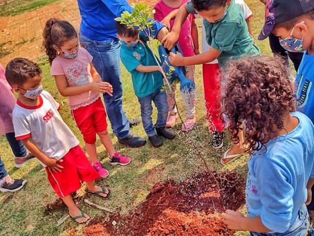 LUNARDELLI - Alunos da Rede Municipal lembram o Dia da Árvore com plantio de mudas