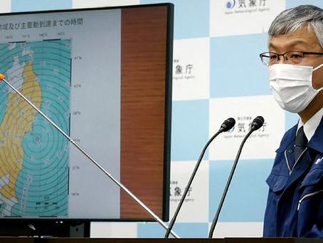 Terremoto atinge a costa leste do Japão