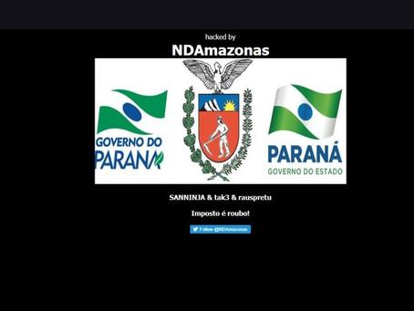Sites do Governo do Paraná são invadidos por hackers