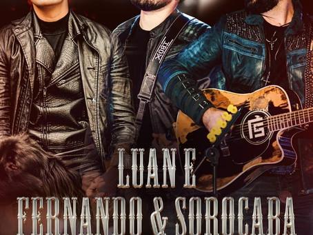 Luan Santana e Fernando e Sorocaba se unem para live, no dia 08 de maio