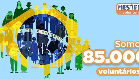 TRE-PR conquista a marca histórica de 85 mil inscrições de mesários voluntários