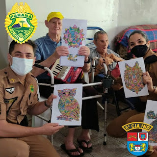 Policiais Militares 3º Pelotão da 6ª CIPM realizaram visita ao Lar São Lourenço em São João do Ivaí