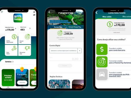 Novo aplicativo do Nota Paraná tem melhor navegação e dados do Paraná Pay