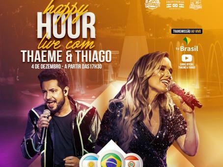 Thaeme e Thiago apresentam live show no Marco das Três Fronteiras, dia 04 de dezembro