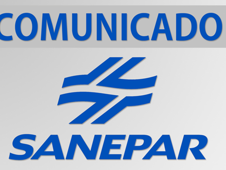 Sanepar divulga que abastecimento de água fica comprometido em Cruzmaltina