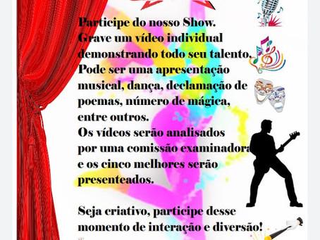 "BORRAZÓPOLIS - Escola Castelo Branco promove ""Show de Talentos online"""