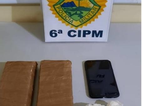 PM de Lidianópolis encaminha dois adolescentes e apreendem mais de 1,3 quilo de maconha e cocaína