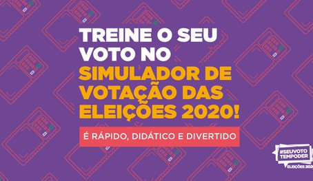 Portal do TSE disponibiliza simulador de votação para as Eleições 2020