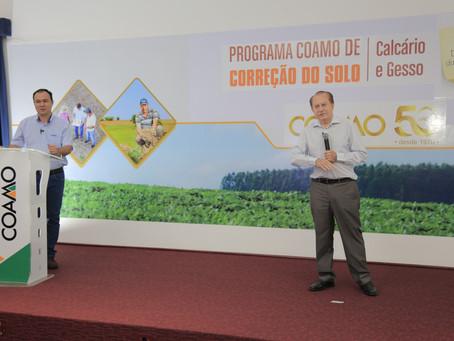 Coamo lança Programa de Correção do Solo  com ênfase de calcário e gesso