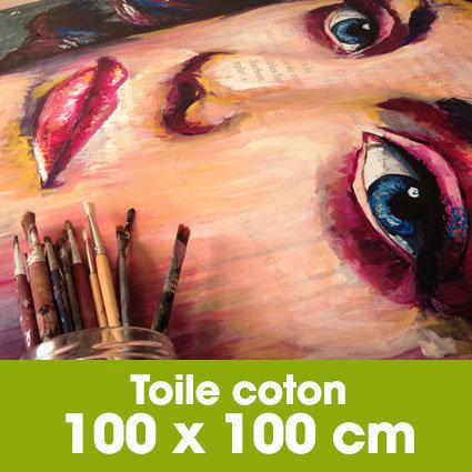 Portrait d'art Acrylique 100 x 100 cm