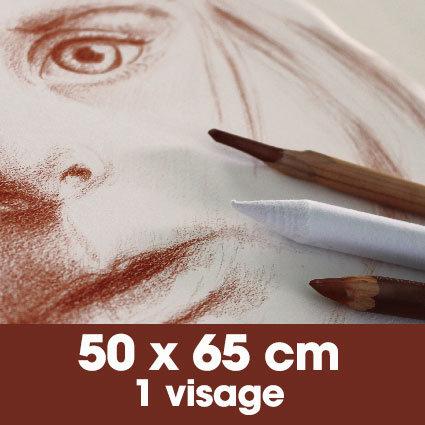 Portrait sanguine 50 x 65 cm - 1 visage