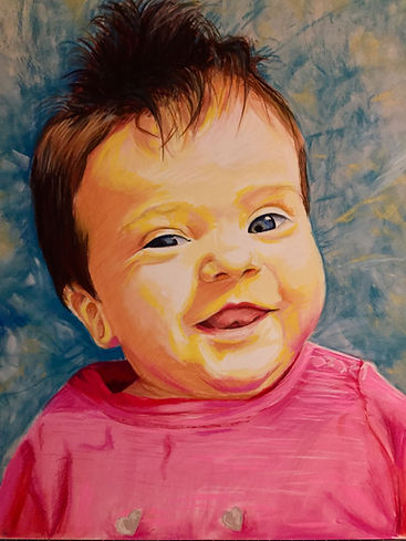 Votre portrait en couleur pour un cadeau de Noël