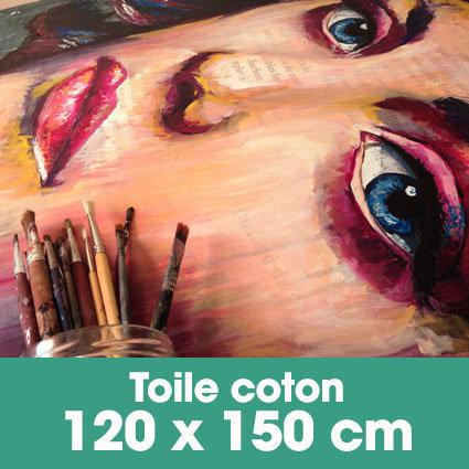 Portrait d'art Acrylique 120 x 150 cm